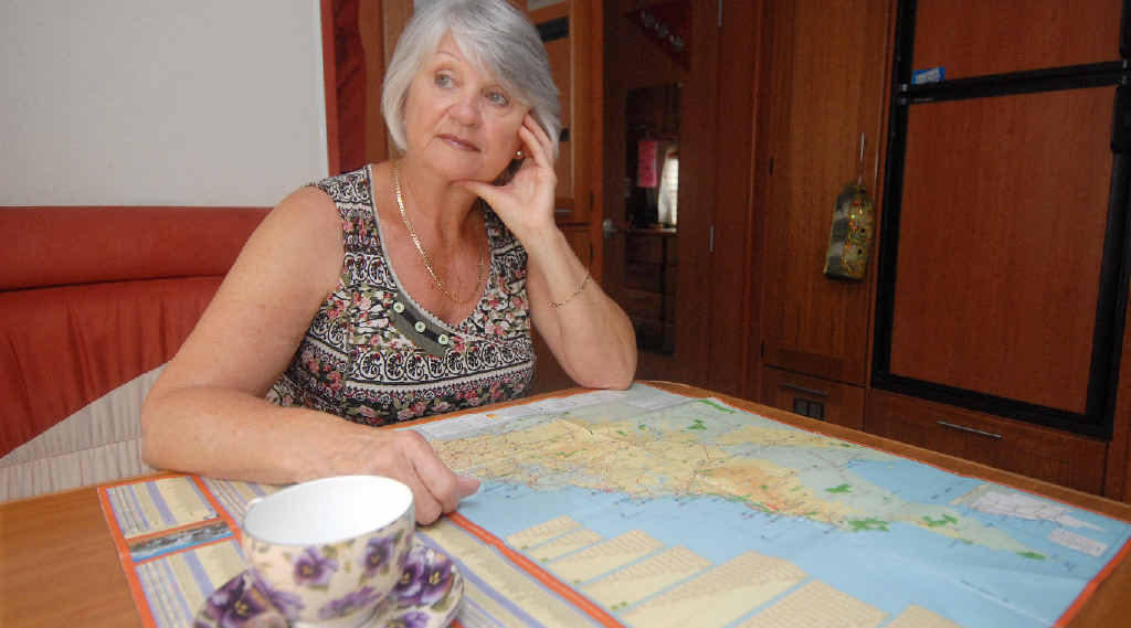 Di Underwood, who is travelling in an RV, says she is disappointed Mackay doesn't offer many stopover or long-term accommodation options for tourists.