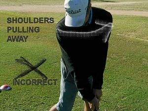 Shoulders key to good balance moving through golf swing
