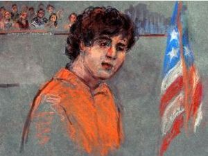 'Not guilty' plea by accused Boston bomber