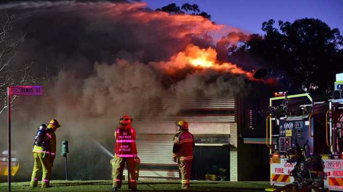 A two-storey home was gutted in a fire on Mercury St in Telina, Gladstone.