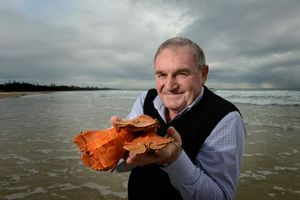 Warren Polglase with some Moreton Bay bugs at Kingscliff beach.