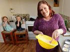 MIXING IT UP: Megan Hammond's baking passion began when she started making birthday cakes for her children, Briana and Kealey Cheeseman.