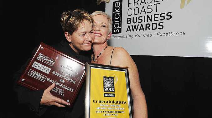 BUSINESS AWARDS: The Business of the Year award went to Kelley Nancarrow, of Kelley's Nails of Excellence and Michelle Byrne of Michelle's Cutting Edge.