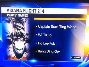 KTVU mistakes racist jokes for crash pilots names