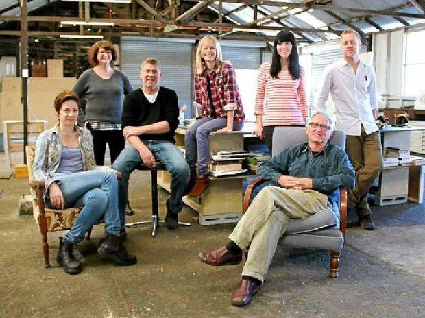 BIG BOOST: Byron School of Art founders Emma Walker (seated), Christine Willcocks, Michael Cusack, Meredeth Crowe, Sarah Harvey, James Guppy (seated) and Rick Shearman.