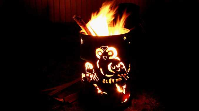 Owls of the night decorate this entry in the Killarney Memorial Aged Care Bonfire and Fire Drum Night.