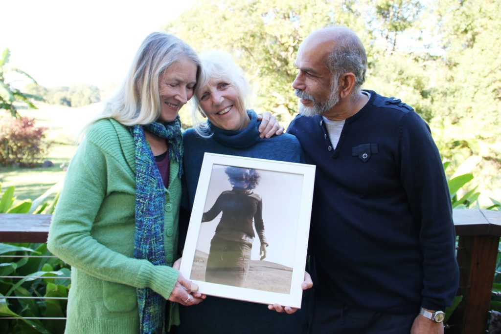Image for sale: IN MEMORIUM: Ri Fraser with Mary and Clency Bernard. Photo Veda Dante / Byron Shire News