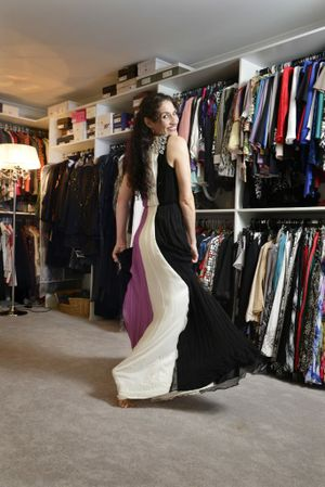 Fiona Lale has a wardrobe the size of a double car garage. Photo: Claudia Baxter / The Queensland Times