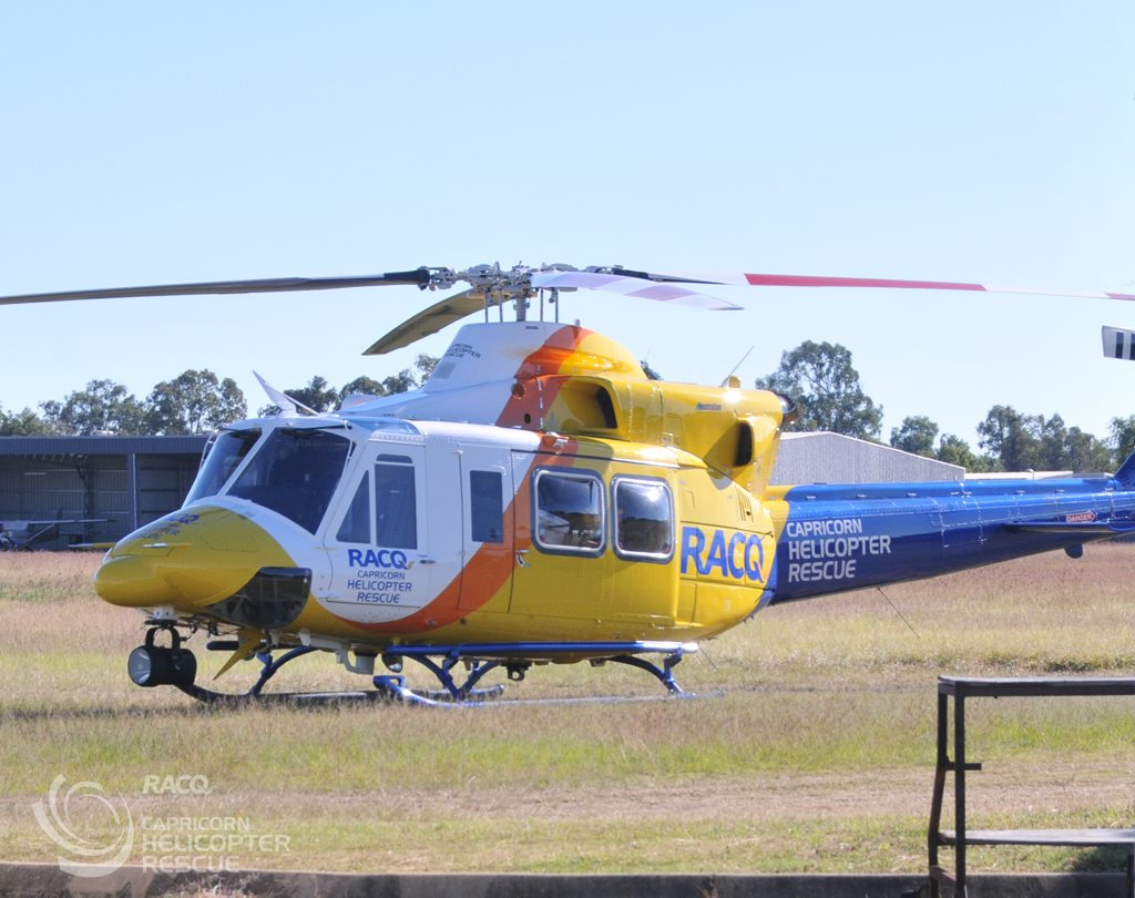 The RACQ Capricorn Helicopter Rescue Service's new helicopter. Photo Contributed