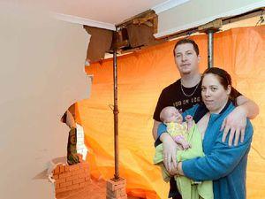 Women flee as 4WD rams hole in house wall