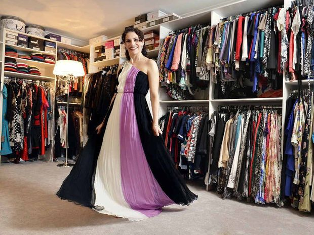 LADY LAIR: Fiona Lale has a wardrobe the size of a double car garage.