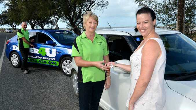 Driver 4 U owners PJ and Leeanne Clarry with Chey Bancroft..