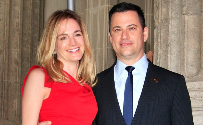 Jimmy Kimmel and Molly McNearney.