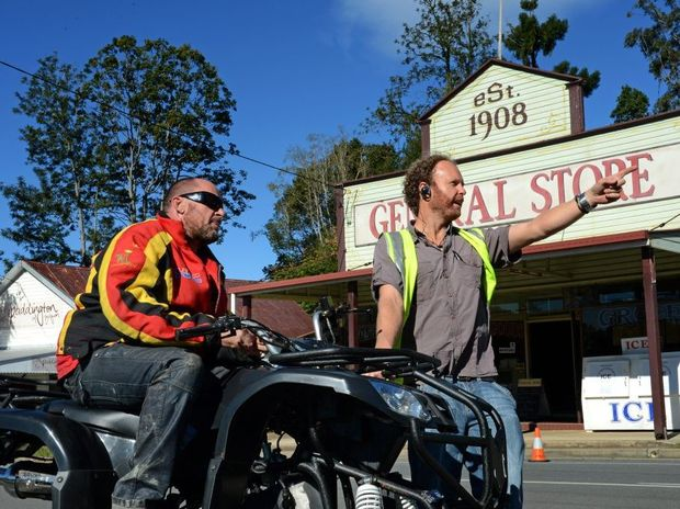 Nick Loveday and Jason Rowling in Tyalgum for the Camp filming.