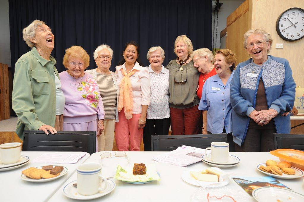 Legacy Jolly Dollies Joan Lawrie, Joyce Lloyd, Vi Phillips, Melba Horwood, Clare Maddock, Carole Keller, Joan Cant, Elsie Whitby and Jo Foster.