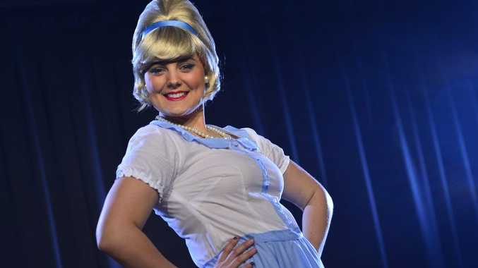 Skye Robertson-Hughes as a Stepford wife for the upcoming Boomtown production.