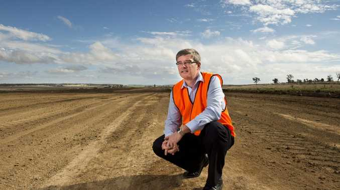 A 2013 file image of Wagners Wellcamp Airport Project Manager Phil Gregory on site.