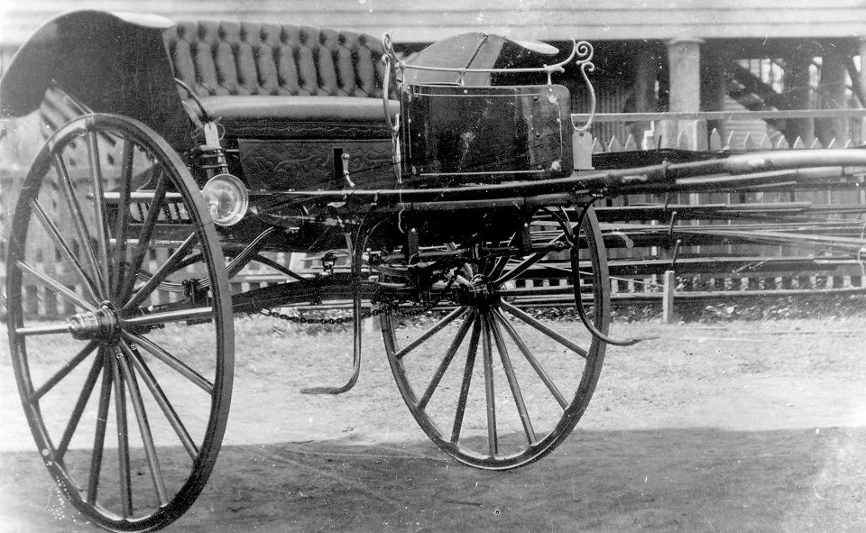 This photo of a buggy made by Whitakers, Coachbuilders in Pialba is among images donated by Gordon Whitaker ahead of Hervey Bay's 150th celebrations.