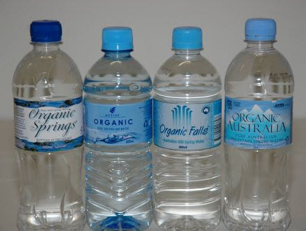 Some manufacturers of botteld water have agreed to change labels to remove the word organic.