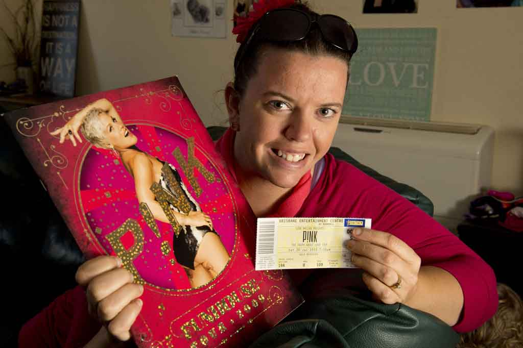Toowoomba Pink fan Lauren Gray (above) has been counting down the days until Pink's sold-out Brisbane shows which kick-off this Friday.
