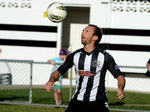 Soccer, Murwillumbah versus Merrimac. Murwillumbah player No 10, Luke Morley.