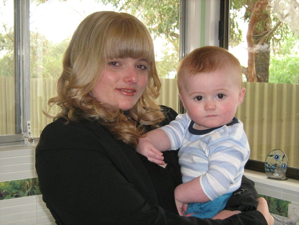 Sharni Benson with her son Mitchell.