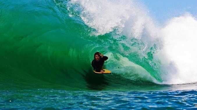 Accomplished body boarder Glen Baker is reportedly in a critical condition in a Thai hospital after a motorcycle accident.