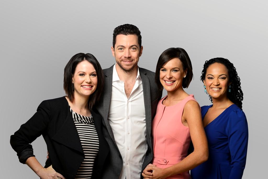 From left Natasha Exelby, James Mathison, Natarsha Belling and Nuala Hafner.