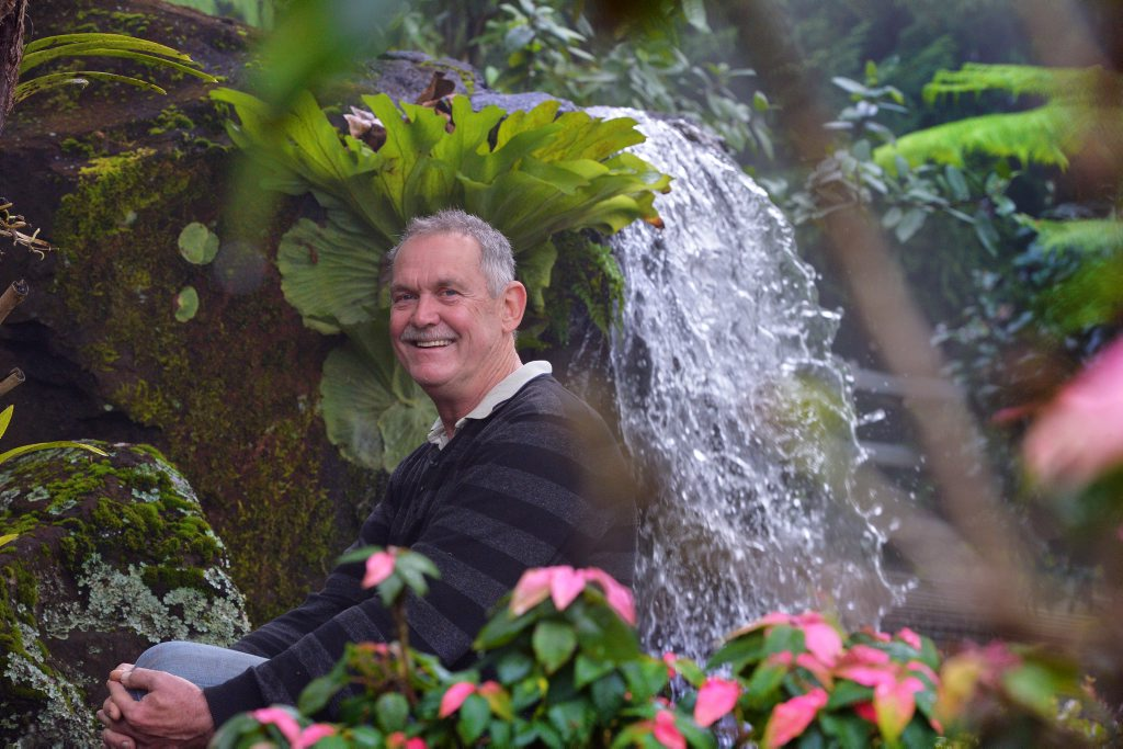 Frank Shipp has a grand vision with his Maleny Botanical Garden project. Photo: John McCutcheon / Sunshine Coast Daily