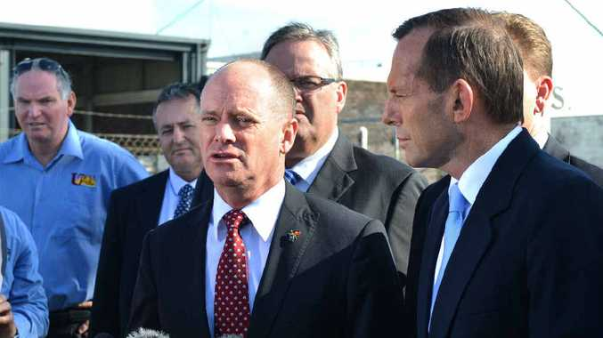 Campbell Newman with Tony Abbott last month.