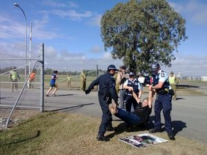 Protester fined $500 for trespassing on Shoalwater Bay