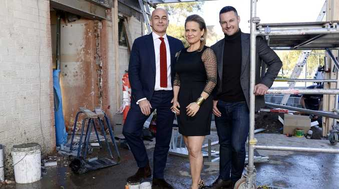 The Block Sky High judges, from left, Neale Whitaker, Shaynna Blaze and Darren Palmer.