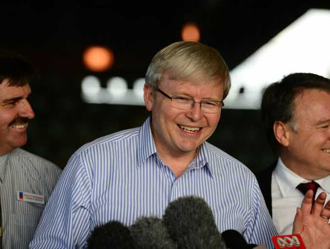 Kevin Rudd on the campaign trail.
