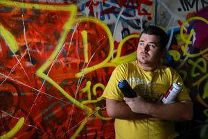 Graffiti artist Mike Huggett wants more graffiti wall.