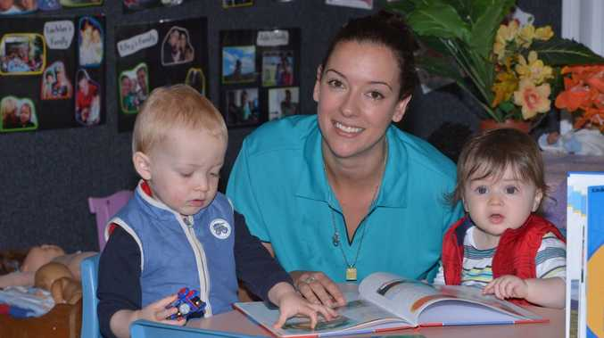 Nominated supervisor at Dalton Drive Child Care, Lisa Forrester with Zac Davies, 21 months and Cillian Naughton, 10 months. Photo: John McCutcheon / Sunshine Coast Daily