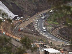 Landslides close Toowoomba Range overnight