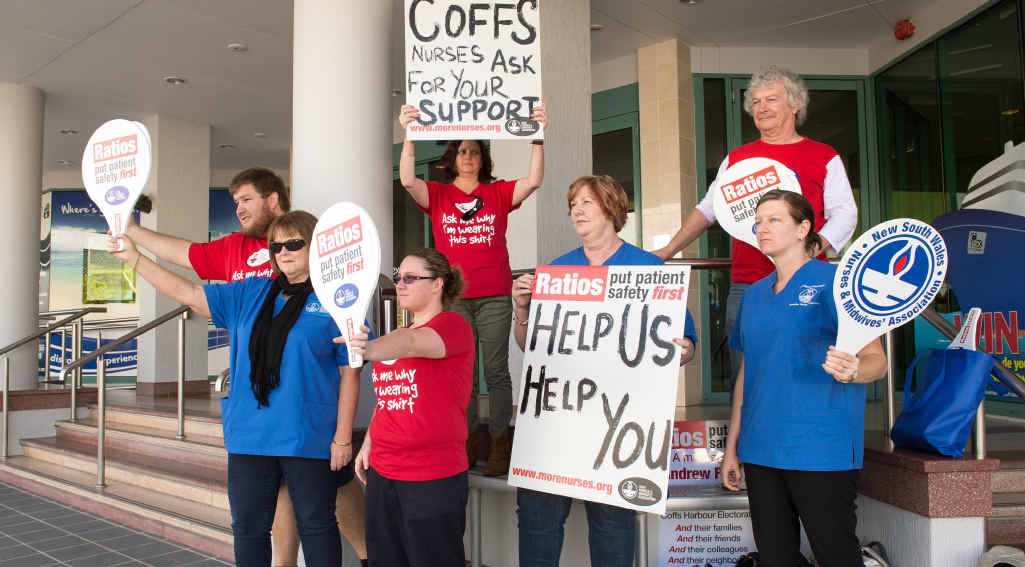 Life perserving treatment will still be ensured in Coffs Coast hospitals tomorrow when nurses go on strike over nurse-to-patient ratios in country public hospitals.