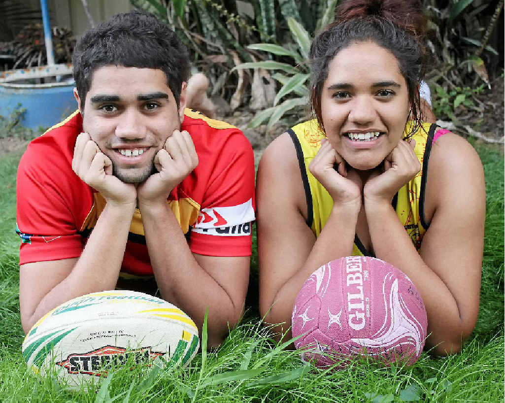 TALENTED DUO: Isaiah and Miesha Huet are making waves in their respective sports of rugby and netball.