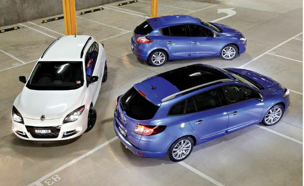 The new Renault Megane range.
