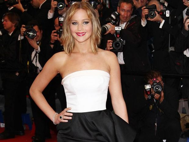 Jennifer Lawrence worries about the effect the word 'fat' has on her young fans.