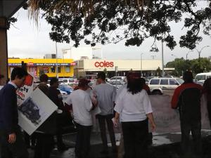 TWU Coles Protest