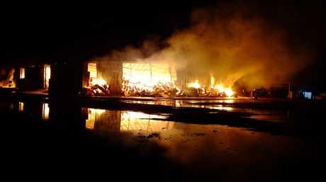 A massive blaze rips through a St George cotton gin.