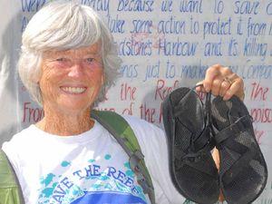 Gran walks to save reef