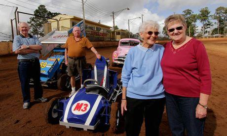 Life members of the Maryborough Sporting Car Club, Ron Prove, Bill Stiler, Maureen Prove and Margaret Moller.