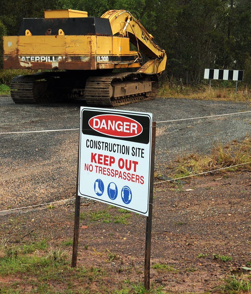 Several new earthmoving machines have been moved to the back of housing estate Henderson Park.