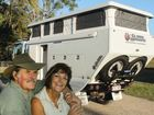Tony and Nancy Bates and their motorhome Isabel.