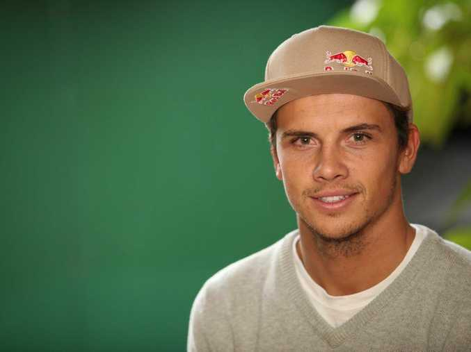 Surfing star Julian Wilson at home in Coolum.