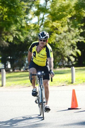 SAFETY FIRST: Hilary Doman takes part in the 100km 24/7 Cycling Safety Fund community ride