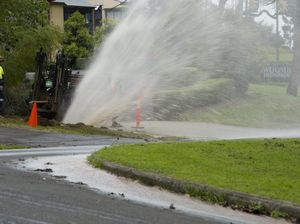 Burst main causes delays near CBD