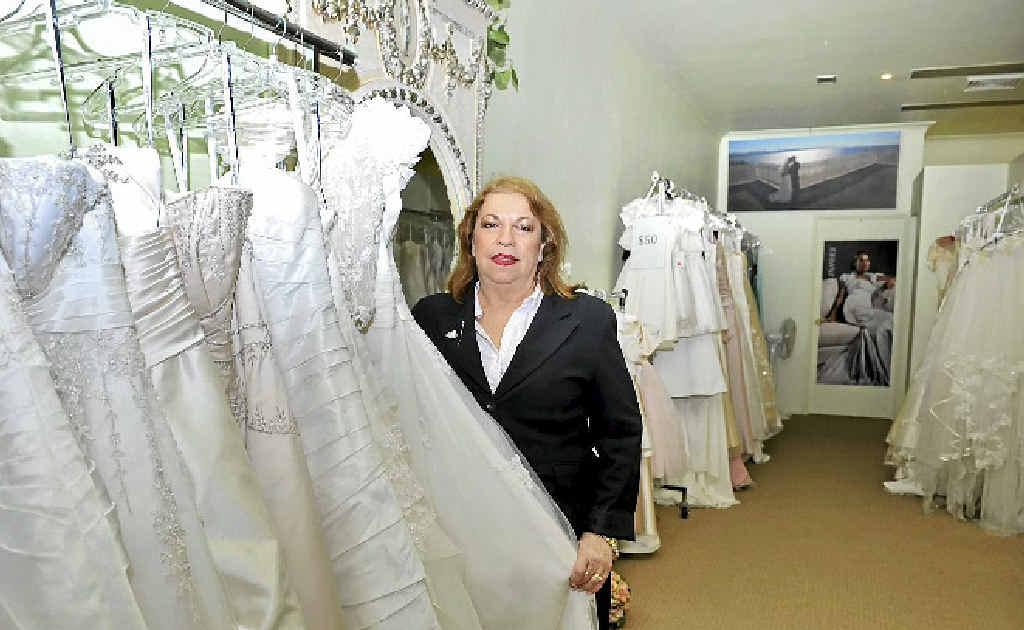 SAD TIME: Treudie Kaehler of Paradise Brides in Ballina, will close her bridal shop next month.